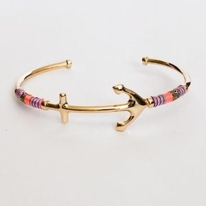 :: Stella & Dot⚓️Voyager Anchor Gold Cuff Bracelet
